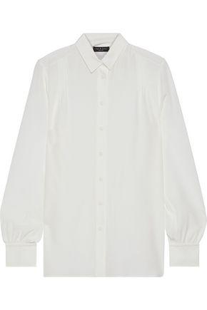 RAG & BONE Odette pintucked silk crepe de chine shirt