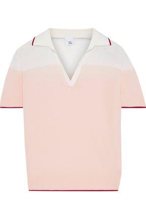 "IRIS & INK قميص بولو ""مايبل"" من صوف المارينو بلونين"