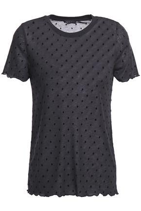 RAG & BONE フロック加工 モダール混ジャージー Tシャツ