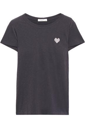 RAG & BONE Heart slub Pima cotton-jersey T-shirt