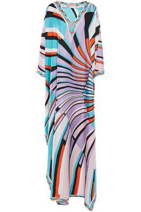 EMILIO PUCCI Printed silk-twill maxi dress