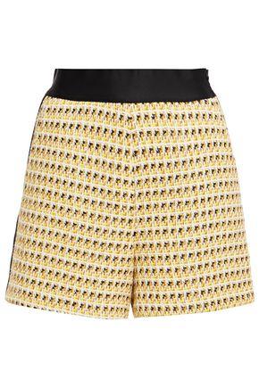 MAJE Isidore metallic cotton-blend tweed shorts