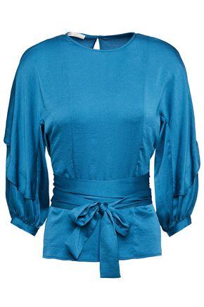 MAJE Belted satin blouse