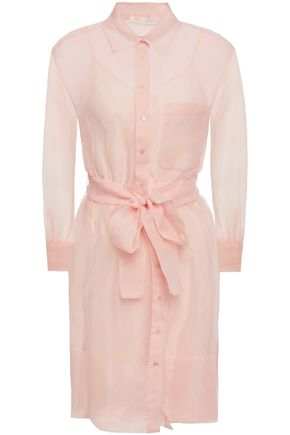 MAJE Revani organza mini shirt dress