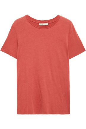 MAJE Cotton and modal-blend jersey T-shirt