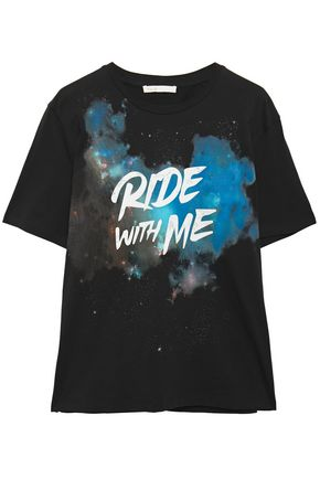 MAJE Printed cotton-jersey T-shirt