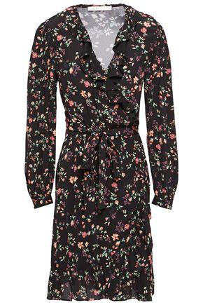 MAJE Floral-print crepe wrap dress