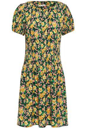 MAJE Rockinie floral-print plissé-crepe mini dress