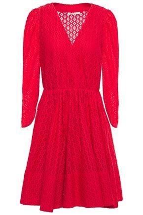 MAJE فستان قصير وواسع من الدانتيل