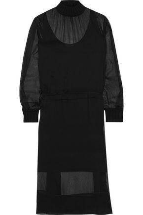 """RAG & BONE فستان """"دينا"""" بتصميم ملموم من قماش جورجيت الحريري"""