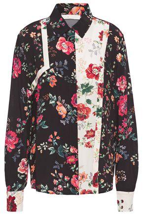 MAJE Ciller floral-print crepe shirt