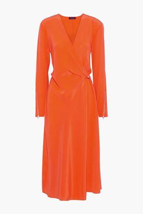 RAG & BONE Odette wrap-effect silk crepe de chine midi dress
