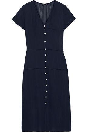 RAG & BONE McCormick button-detailed chiffon midi dress