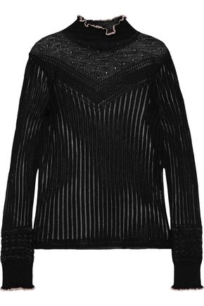RAG & BONE Breannet pointelle-knit top