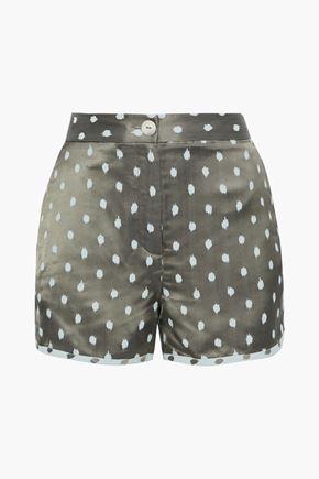 RAG & BONE Bonnie satin-jacquard shorts