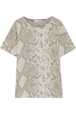RAG & BONE スネークプリントピマコットンジャージー Tシャツ