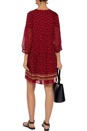 BA&SH Bailey gathered printed voile mini dress