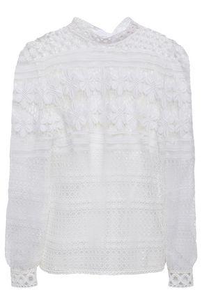 MAJE Tie-neck guipure lace blouse