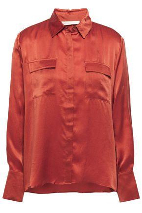MAJE Washed-silk shirt