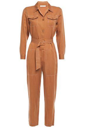 MAJE Paromane belted woven jumpsuit