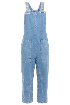 MAJE Cropped denim overalls