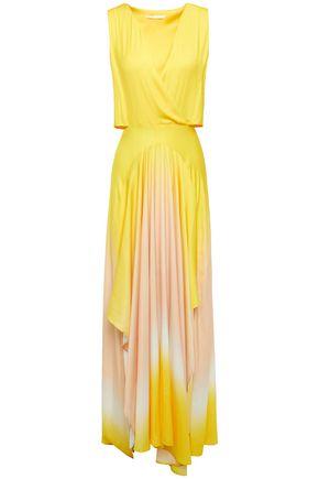 MAJE Resia cutout dégradé pleated maxi dress