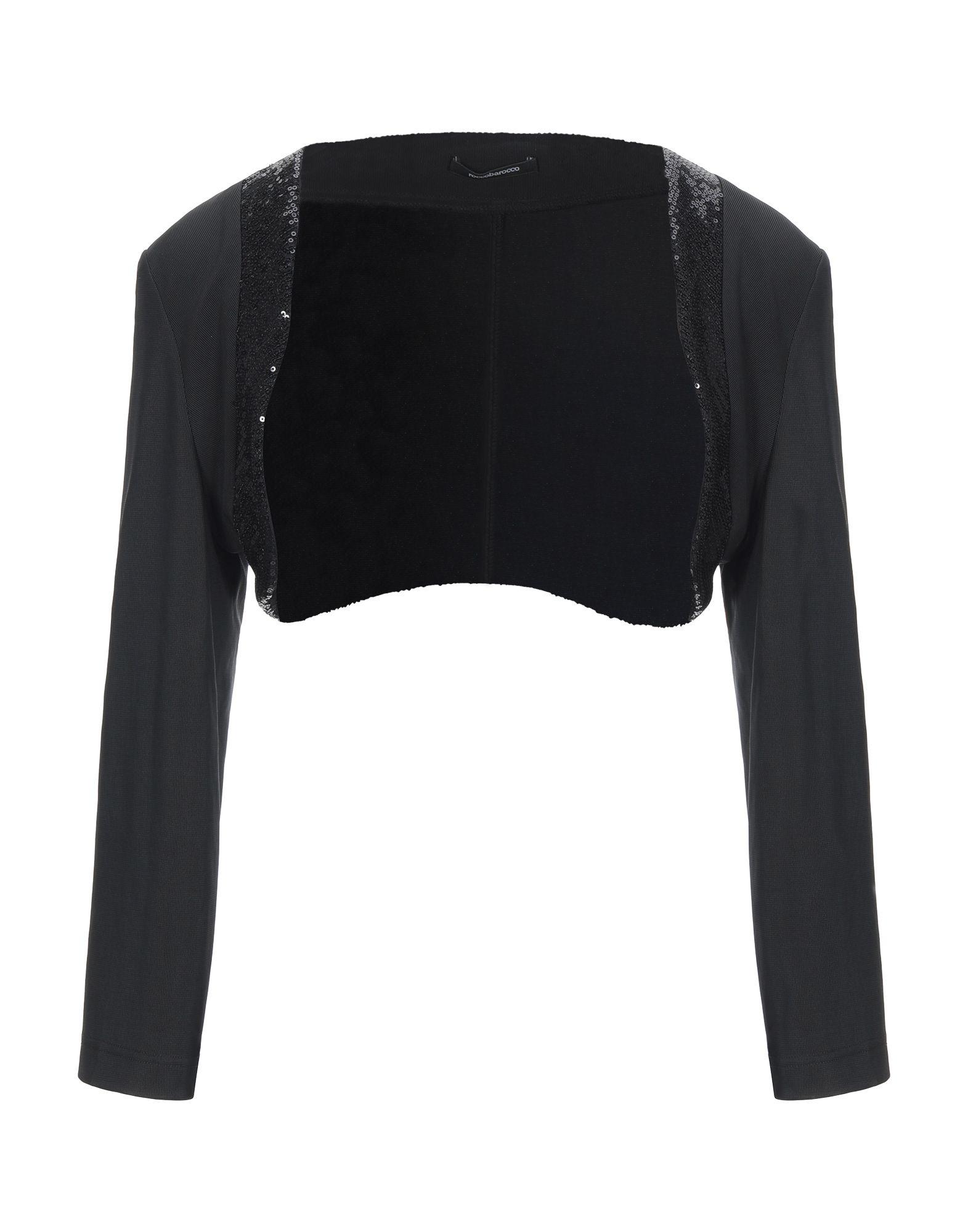 《セール開催中》ROCCOBAROCCO レディース ボレロ ブラック 48 ポリエステル 90% / ポリウレタン 10%