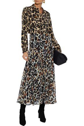 Diane Von Furstenberg Mariah Leopard-print Silk Crepe De Chine Shirt In Animal Print