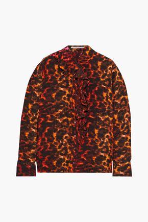 STELLA McCARTNEY Samantha ruffle-trimmed printed silk crepe de chine blouse