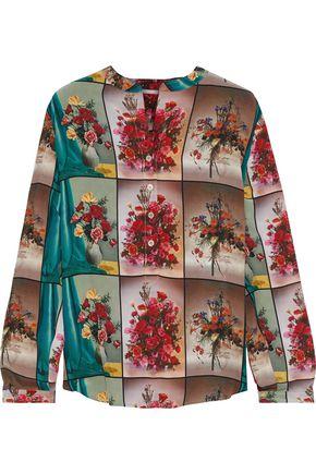 "STELLA McCARTNEY بلوزة ""إيفا"" من قماش كريب دي شين الحريري المطبع برسومات"