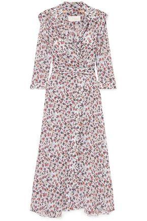 CHLOÉ Scalloped floral-print georgette wrap maxi dress