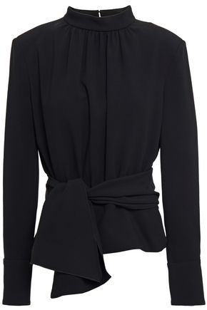 BA&SH Gathered knotted crepe top