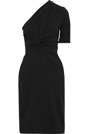 STELLA McCARTNEY Maia one-shoulder twist-front stretch-crepe dress