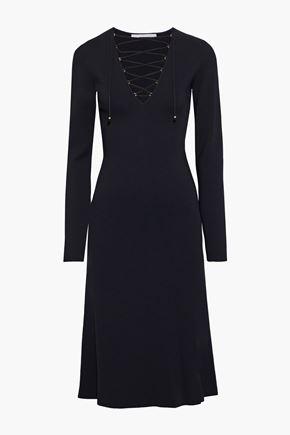 STELLA McCARTNEY فستان من قماش بونتي مع أربطة
