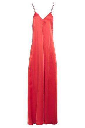 FORTE_FORTE Satin-crepe maxi slip dress