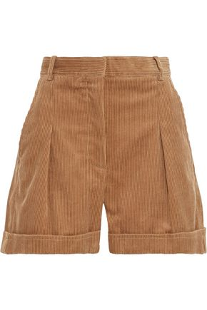STELLA McCARTNEY Danielle pleated cotton-corduroy shorts