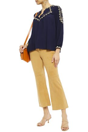BA&SH Embroidered crepe blouse