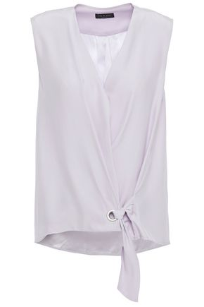 RAG & BONE Silk wrap top