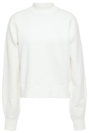 RAG & BONE Sherie paneled cotton-terry sweatshirt