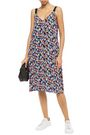 RAG & BONE Estell grosgrain-trimmed floral-print crepe dress