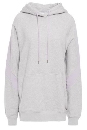 NINETY PERCENT Mélange French cotton-terry hoodie
