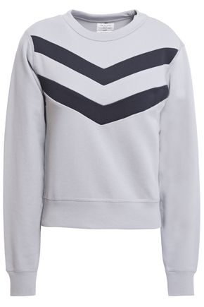 RAG & BONE Striped French cotton-terry sweatshirt