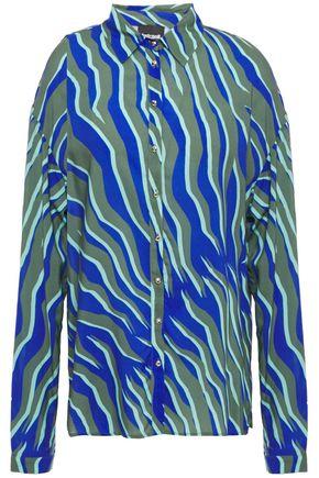 JUST CAVALLI Zebra-print mousseline shirt