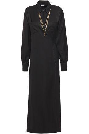 JUST CAVALLI فستان ملتف متوسط الطول من التويل مزين بسلسلة