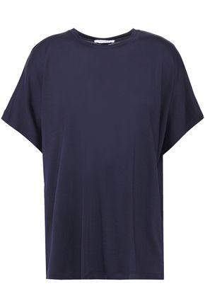 NINETY PERCENT Open-back jersey T-shirt