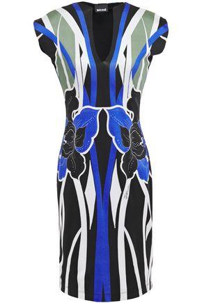 JUST CAVALLI Printed stretch-jersey dress