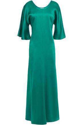 FORTE_FORTE Satin-crepe maxi dress