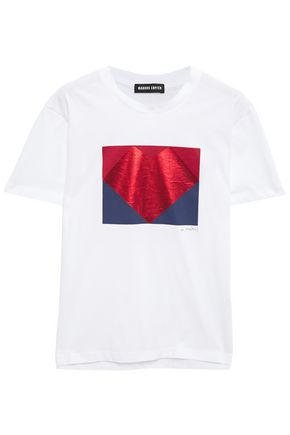 MARKUS LUPFER Metallic printed cotton-jersey T-shirt