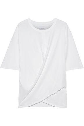 CURRENT/ELLIOTT The Draped cotton-jersey T-shirt
