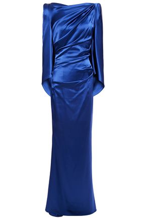 TALBOT RUNHOF Sonica ruched satin-crepe gown